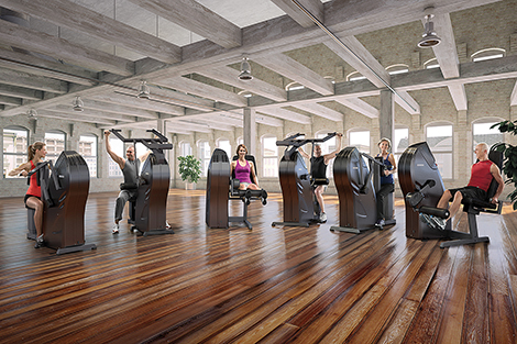 The milon circuit uses traffic lights to take exercisers through a 30 minute workout