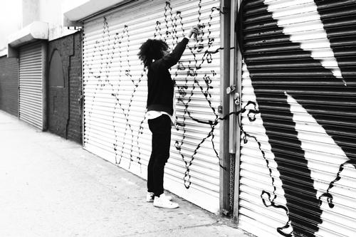 Rising star Shantell Martin has produced work for the project / Nina Loschiavo