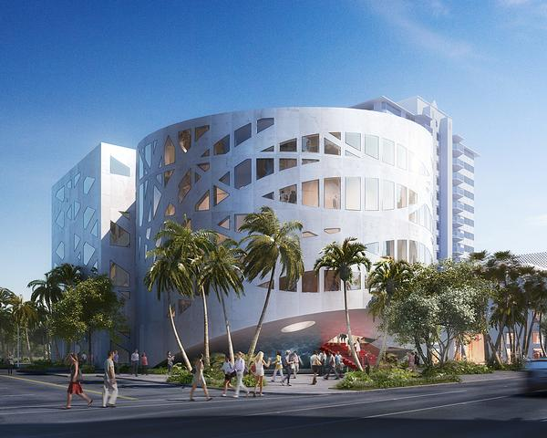 The OMA-designed Faena Arts Center is made up of two volumes, which can be used as exhibition or events space / PHOTO: dbox
