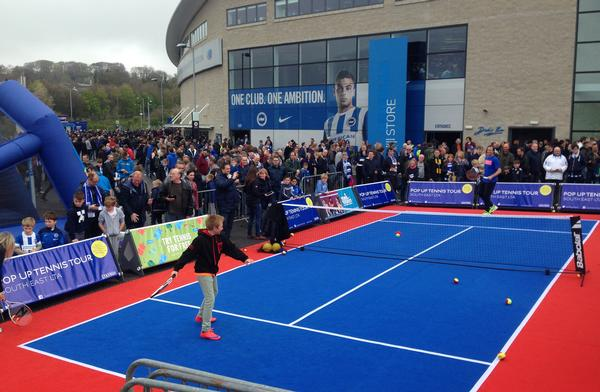 """The PopUpCourt has been designed to give tennis fans a flavour of the """"arena experience"""""""