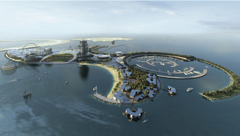 The 'sportertainment' resort will mix a world-class sports venue with a large tourist attraction