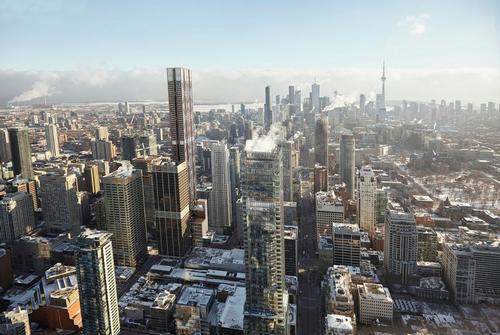 If constructed, 'The One' would be Toronto's second tallest building / Foster + Partners