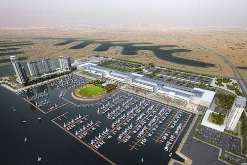 A rendering of the proposed masterplan of the Al Khiran site / Tamdeen Group