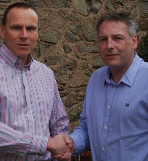 Mike Hill (left) and David Monkhouse will pool their companies' resources as of 1 April