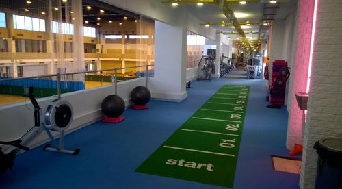 The project saw the refurbishment of the junior gym to include a sprint track