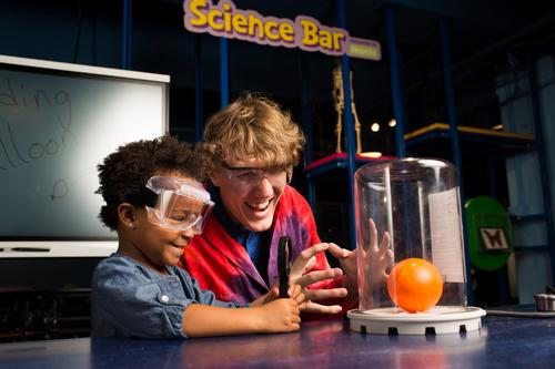 'Step Up To Science' allows children to observe and conduct scientific experiments with a team of experts / Jack Rouse Associates
