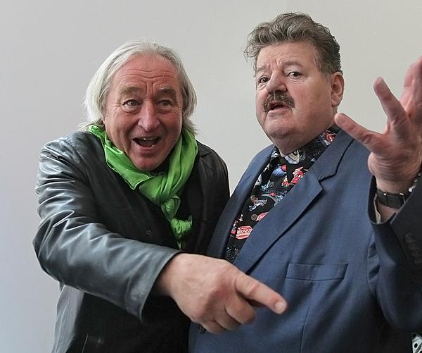 With Robbie Coltrane at the opening of the Glasgow School of Art's new building in 2014