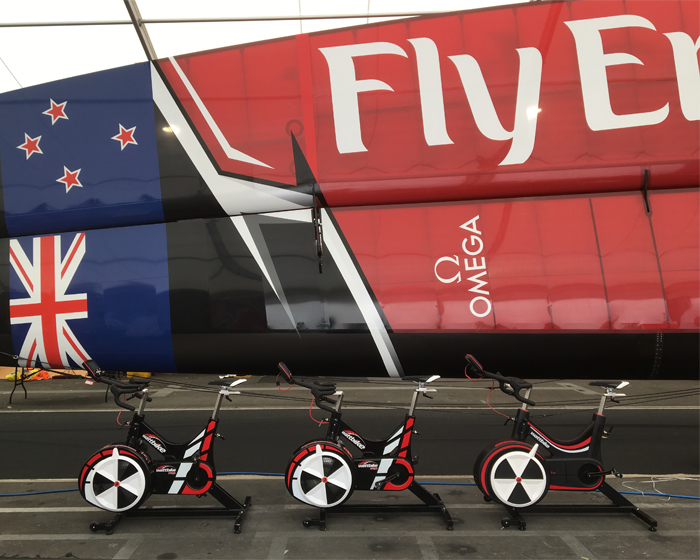 Emirates Team NZ transform America's Cup boat with pedal power