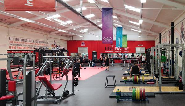 The new functional training area was converted from an indoor football pitch