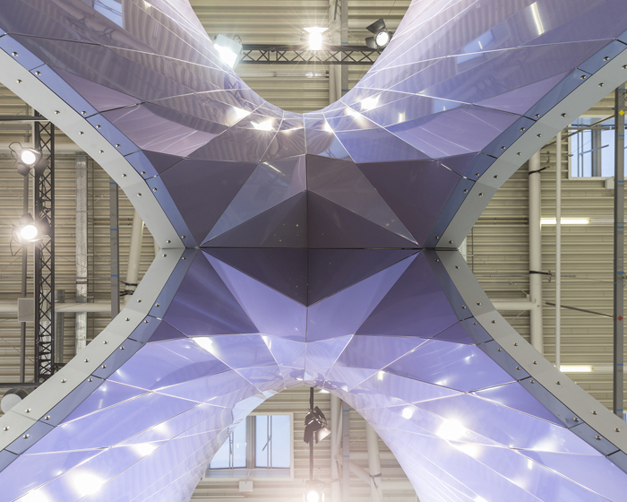 UNStudio designs alpolic fair stand for Mitsubishi Plastics