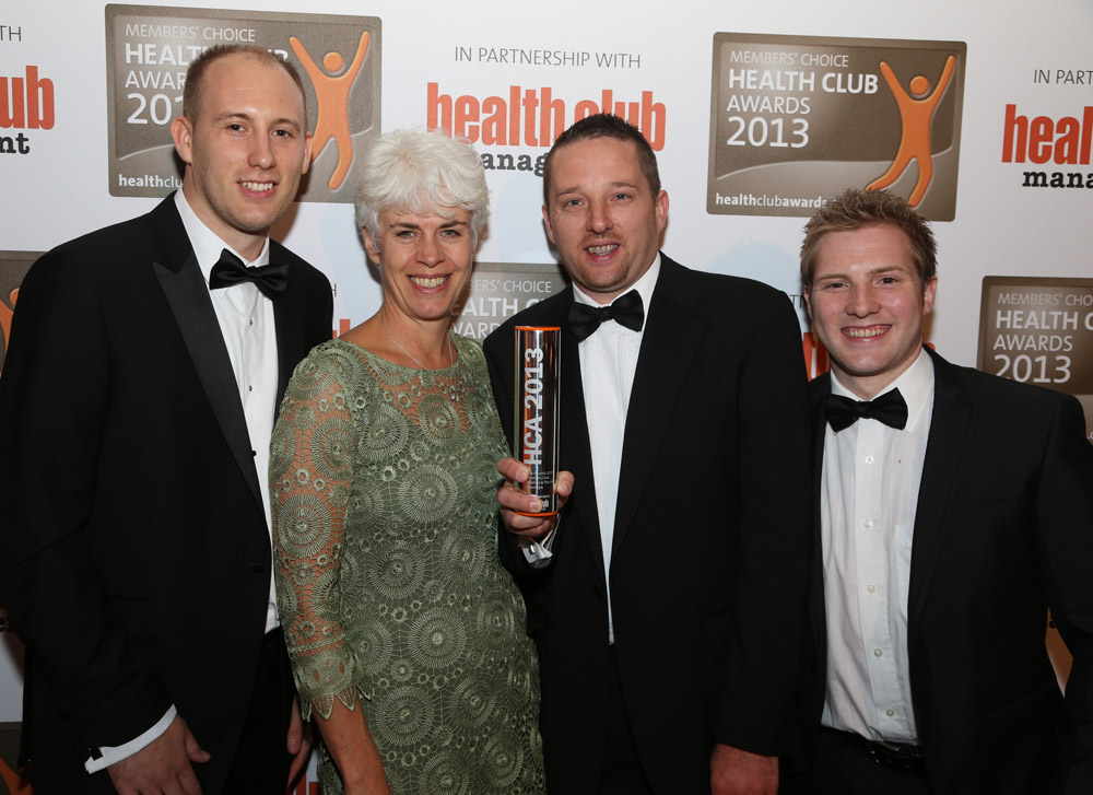 The award-winning Crown team with Leisure Media MD Liz Terry