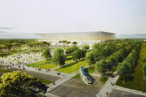 The stadium is expected to be completed by 2015 and will host games during Euro 2016 / Herzog & de Meuro