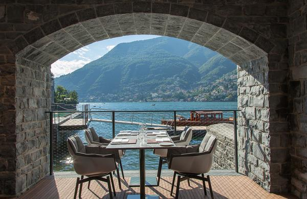 ll Sereno was built on top of an old arched boathouse which has been reinvented as a spa