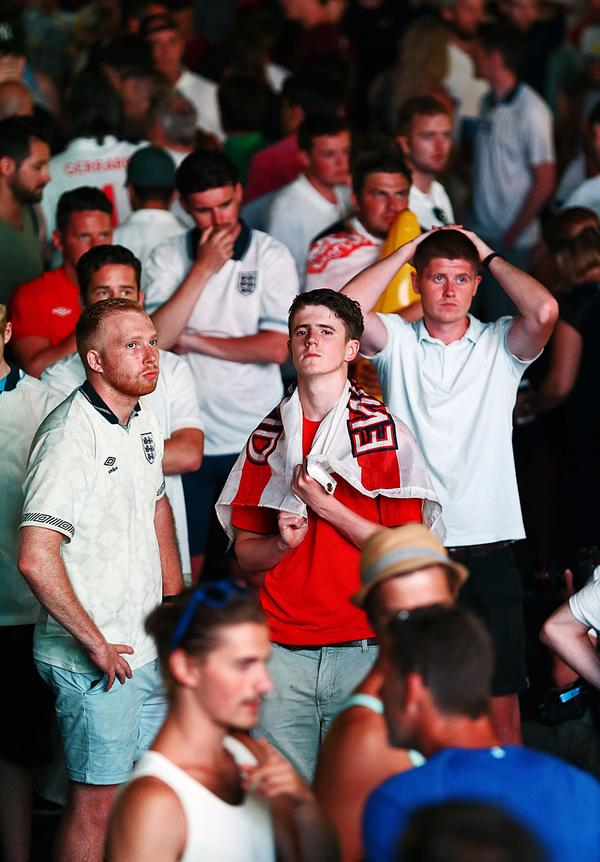 England fans were shocked when Iceland beat their team in the round of 16 at Euro 2016 / Brian Lawless / press association