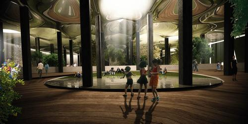 The Lowline team says the technology would support photosynthesis, enabling plants and trees to grow / Raad Studio