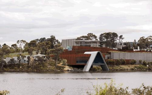 An extension to the museum will extend out into the River Derwent