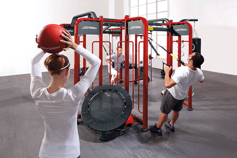 Life Fitness' SYNRGY360 system uses body weight to provide the resistance