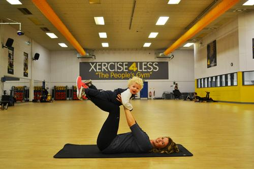 Xercise4Less health and fitness executive Sarah Philp with her son Isaac
