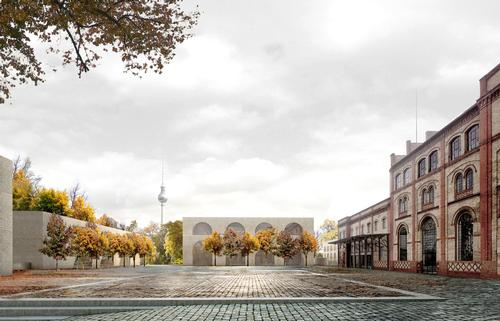 The site will be transformed into a 24,000sq m (258.300sq ft) new public destination within the city / Reindeer Renderings for David Chipperfield Architects