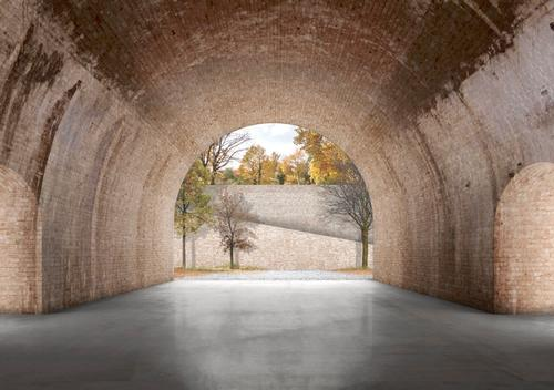 The city's mysterious vaults will be linked to the new public space above / Reindeer Renderings for David Chipperfield Architects
