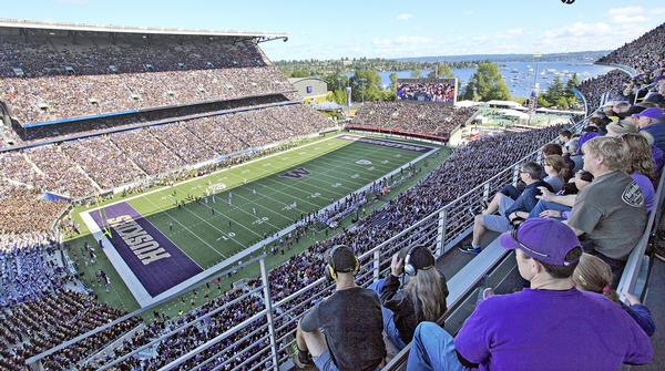 The design strategy for the renovation of Husky Stadium focused on protecting local waterways / PHOTO: PA / Elaine Thompson
