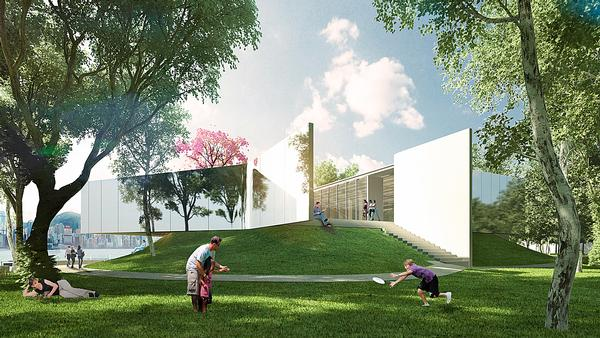 The Pavilion will offer views over the harbour and will act as an event and exhibition space