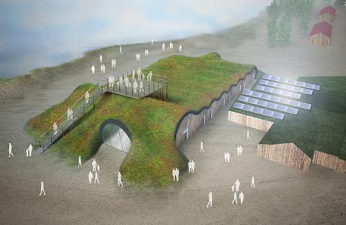 Swedish solar power company Solkompaniet will install a system allowing the building to run solely on solar power during the summer / PinPin Studio