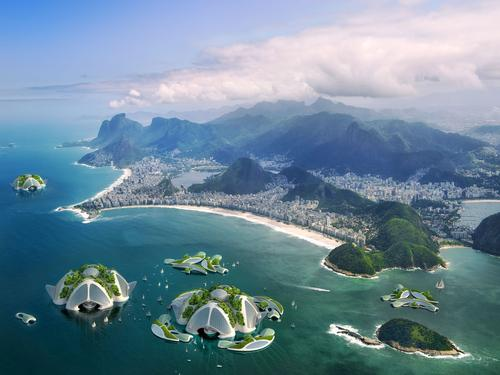 The oceanscrapers could be located all around the world / Vincent Callebaut