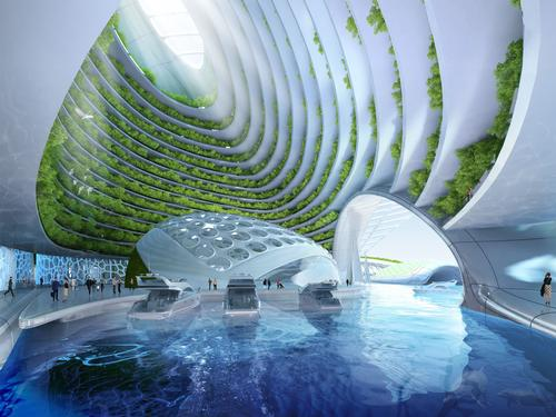 Marinas will provide access to the surface / Vincent Callebaut