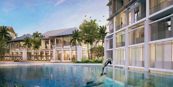 A unique feature of Datai Desaru will be bedrooms looking out onto dolphins and fish in the marine park attraction / © 2011 DESTINATION RESORTS AND HOTELS SDN BHD