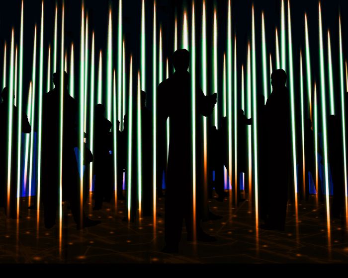 Mysterious lighting installation illuminates this year's Salone del Mobile