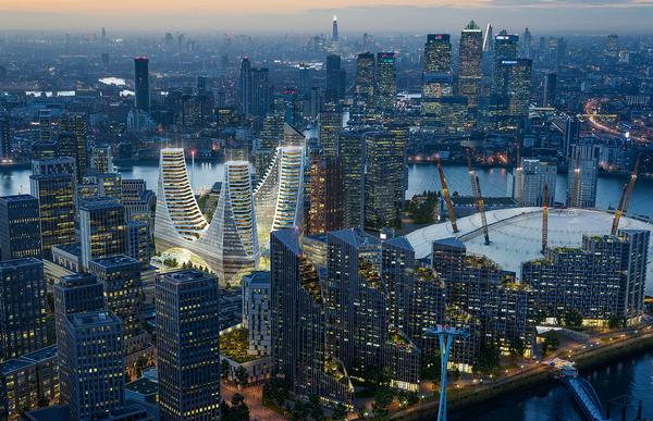 Calatrava's vast building will serve as the gateway to the new Greenwich Peninsula district