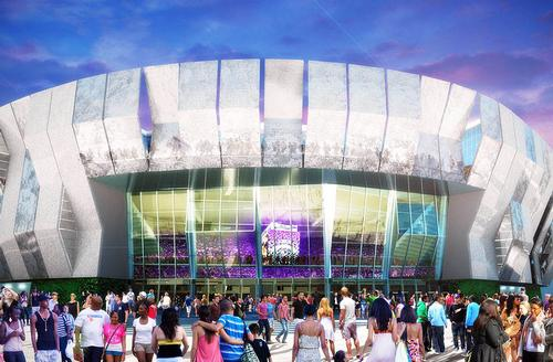 The 18,5000 capacity venue has been designed by architecture firm AECOM / Sacramento Kings