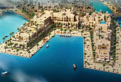 The hotel will also feature a rooftop pool, various F&B and retail outlets in addition to a promenade and marina / Dubai Properties Group / DAS