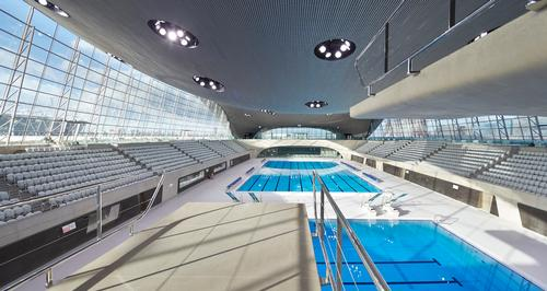 Hadid designed the London Aquatics Centre / Hufton+Crow