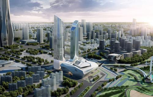 Jumeirah Nanjing - which will open in 2016 - has been designed by Zaha Hadid Architects / Jumeriah