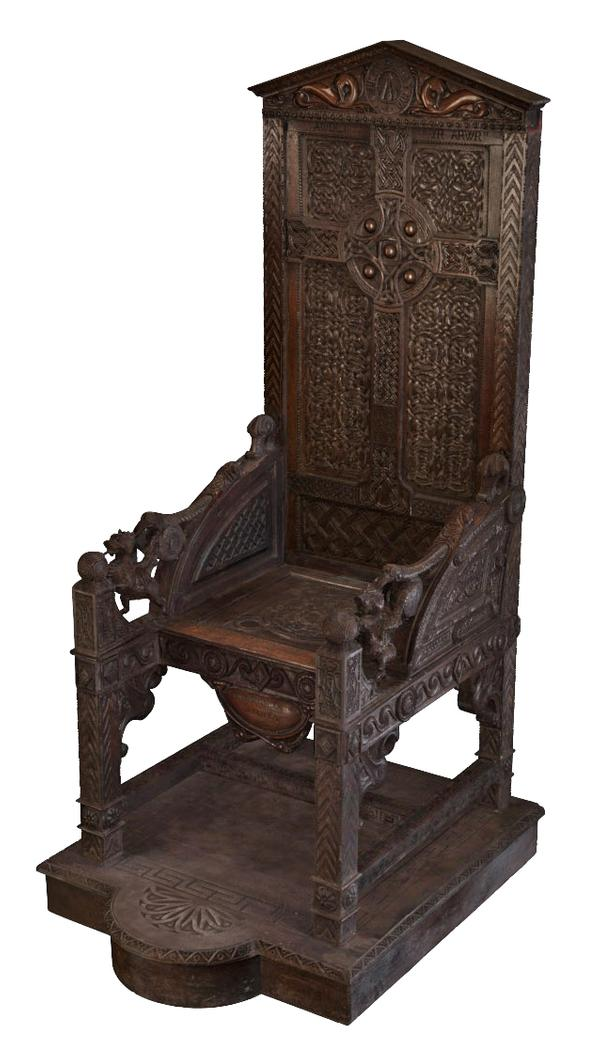 The historic Eisteddfod Black Chair – a symbol of a lost generation of young men in WW1 – was replicated