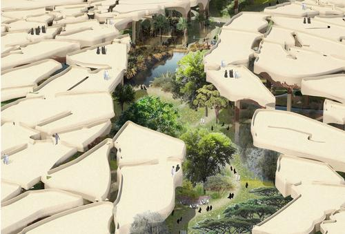 Plans revealed for Abu Dhabi sunken desert oasis by Heatherwick