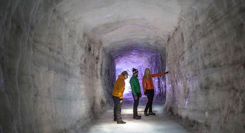 The IceCave is one of the largest man-made structures in the world / IceCave