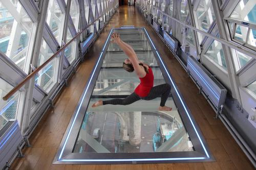 Sunrise Tower Bridge workouts take yoga to new heights