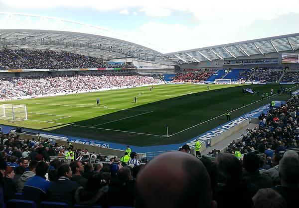 The Brighton Community Stadium is one of eight football venues used for the 2015 Rugby World Cup