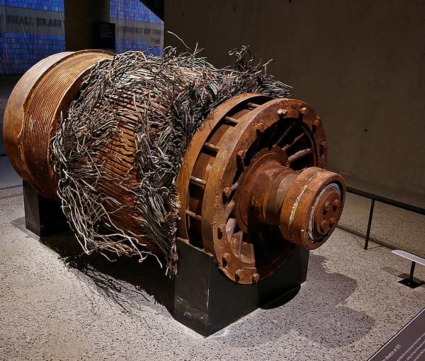 An elevator motor from the Twin Towers