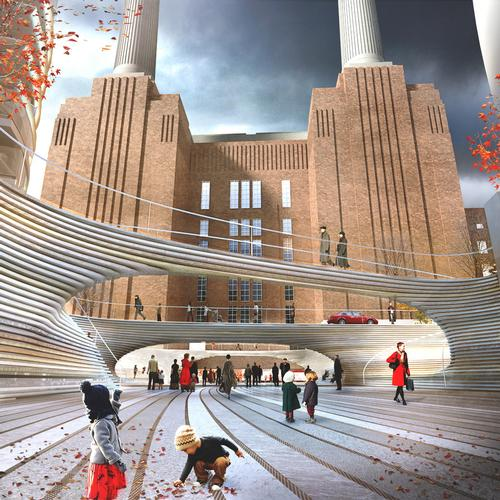 BIG is designing a public square next to Battersea Power Station