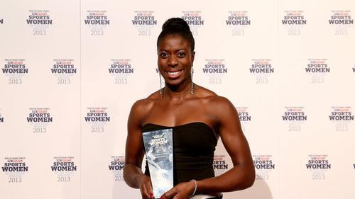 Christine Ohuruogu, winner of the Sportswoman of the Year award 2013 / UK Sport/Sky Sports