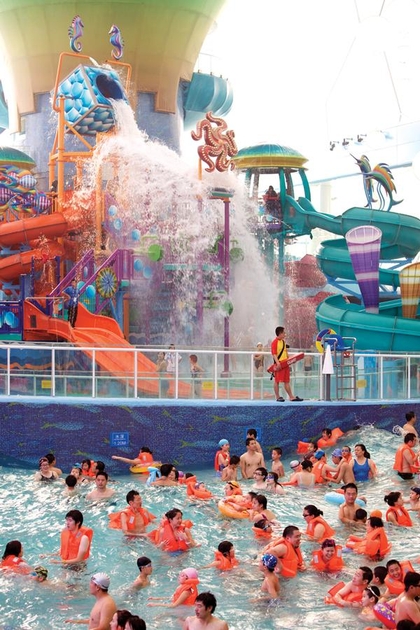 Since the waterpark's opening, interest has been so high that the operator has capped daily attendance at 4,000