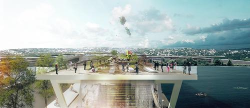 The project is the latest in a series of elevated parks across the world, including the High Line in New York / OMA and OLIN