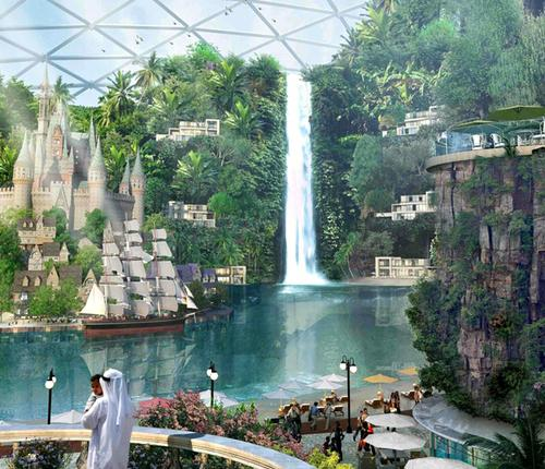 The 'city' will include the world's largest indoor theme park