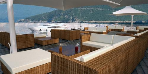 The resort will have views out towards the Adriatic Sea / Salt & Water