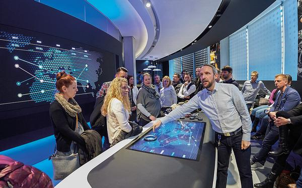 At the Mercedes-Benz Brand Space, experiential design is used to educate the firm's employees