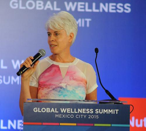Liz Terry, CEO of Leisure Media and editor CLAD, identified two architectural trends for the wellness industry at the Global Wellness Summit in Mexico City / Global Wellness Summit